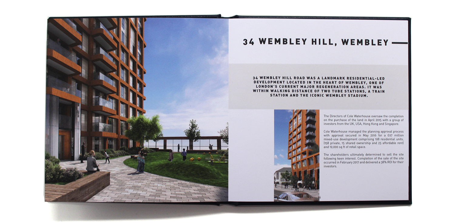 Creative brochure for Cole Waterhouse Manchester