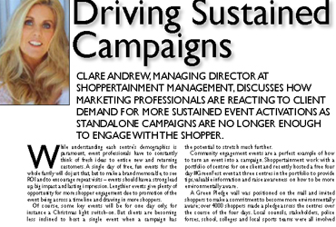 CLARE ANDREW CHATS TO RETAIL AND LEISURE MAGAZINE