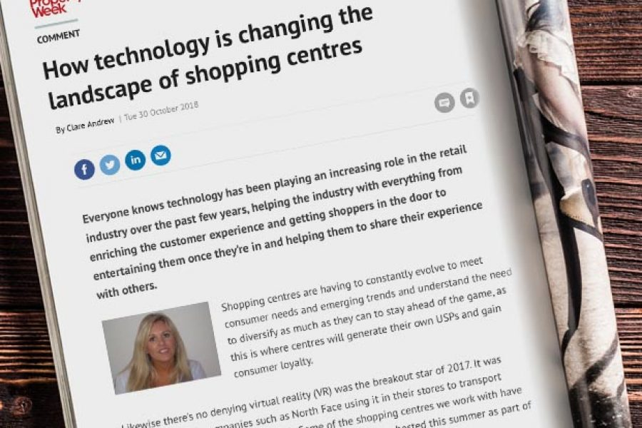 CLARE DISCUSSES IMPACT OF TECHNOLOGY ON SHOPPING CENTRES